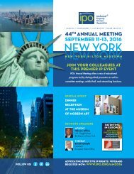 44 ANNUAL MEETING SEPTEMBER 11–13 2016
