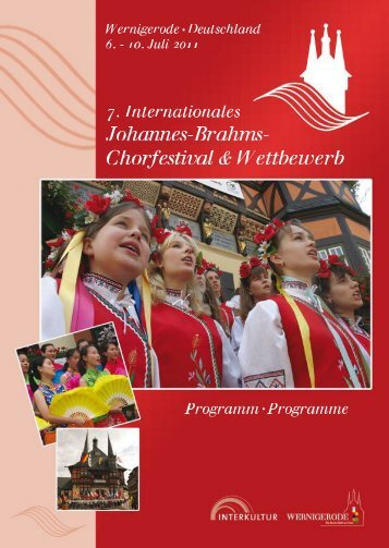 Wernigerode 2011 - Program Book