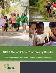 NRPA Out-of-School Time Survey Results