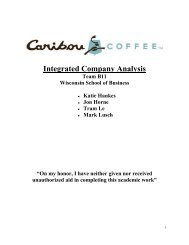 Integrated Company Analysis Team B11 ... - Business Library