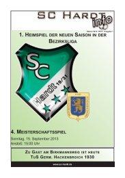 Saison 2013/2014 - Ausgabe 1
