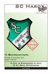 Saison 2013/2014 - Ausgabe 6