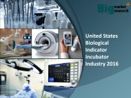United States Biological Indicator Incubator Industry 2016 Research, News & Growth