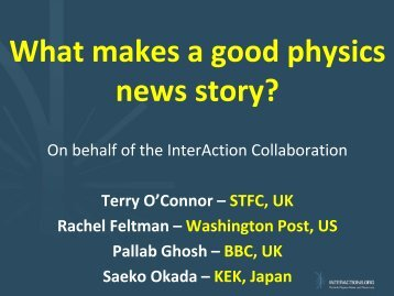 What makes a good physics news story?