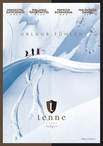 Berghotel Ratschings | Tenne Lodges in Südtirol in DT/IT/ENG