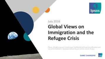 Immigration and the Refugee Crisis