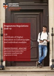 Programme Regulations 2016–17