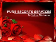 Pune Escorts Fun by Shikha Shirivastav
