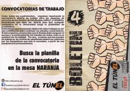 Segundo Boletín  EL TÚNEL- Inscripciones 2016 UNQ-
