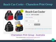 Beach Can Cooler - Chameleon Print Group