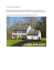 New Homes For Sale in Ledyard CT