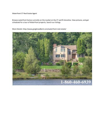 Waterfront CT Real Estate Agent