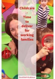 - Time to deliver for working families