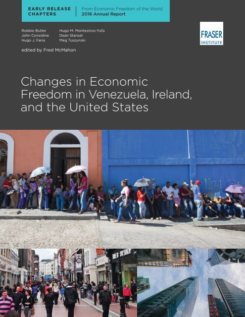 Changes in Economic Freedom in Venezuela Ireland and the United States