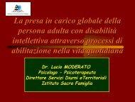 La presa in carico globale della persona adulta con disabilità ...
