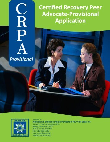 Certified Recovery Peer Advocate-Provisional Application