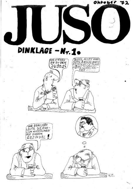 JUSO-Zeitung-Dinklage Nr. 1 (1972)