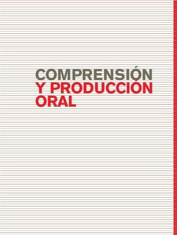 comprensión y producción oral - Escritorio de Educación Rural
