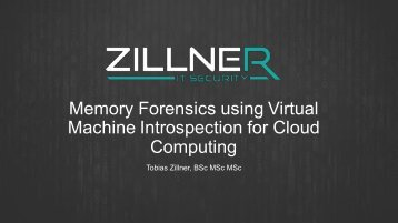 Memory Forensics using Virtual Machine Introspection for Cloud Computing