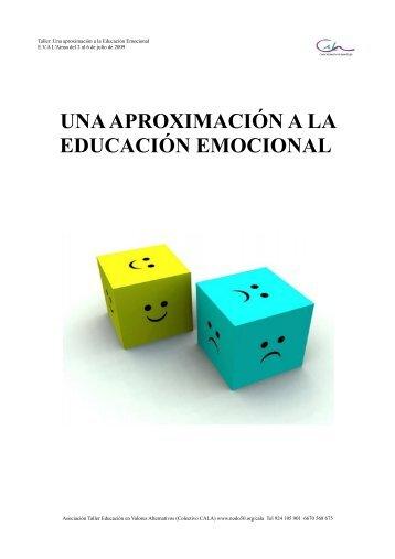 una aproximación a la educación emocional - Escuela de Verano ...