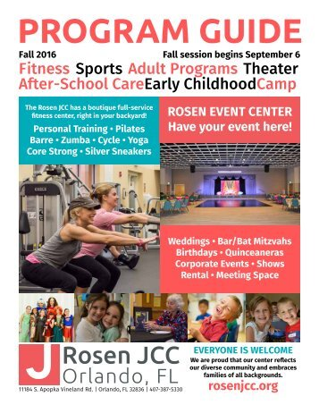Rosen JCC program guide - Fall 2016
