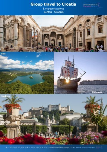 Group travel to Croatia and neighboring countries 2016/2017