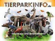 Präsentation des Vorteilspartnerprogramms von Tierparkinfo.de