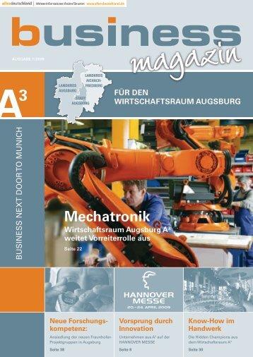 Mechatronik - im Wirtschaftsraum Augsburg.