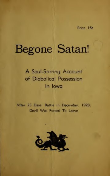 Begone Satan: An Exorcism in Iowa
