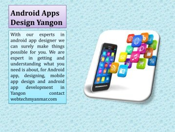 Android Apps Design Yangon