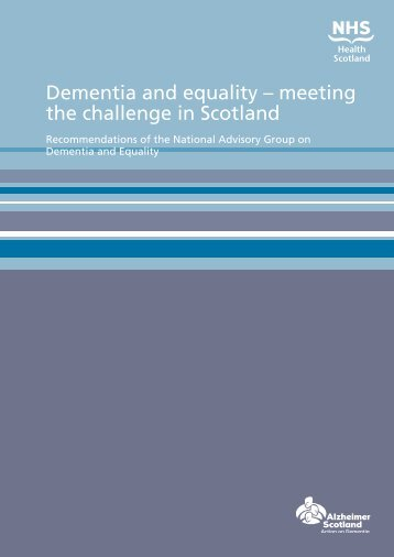 Dementia and equality – meeting the challenge in Scotland