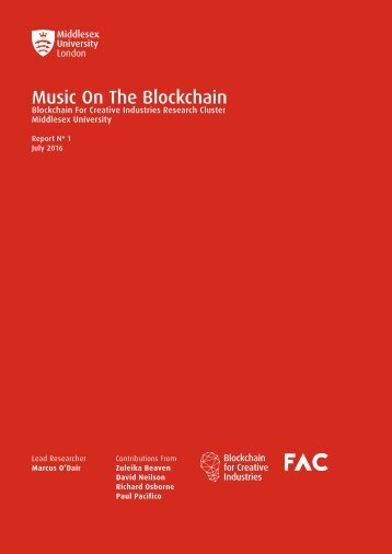 Music On The Blockchain