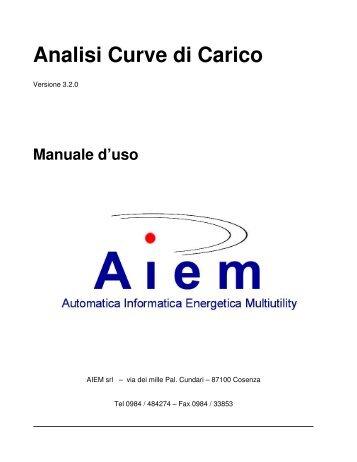 Analisi Curve di Carico - AIEM