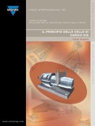 iL PriNciPiO DeLLe ceLLe Di cAricO kis - Vishay Precision Group