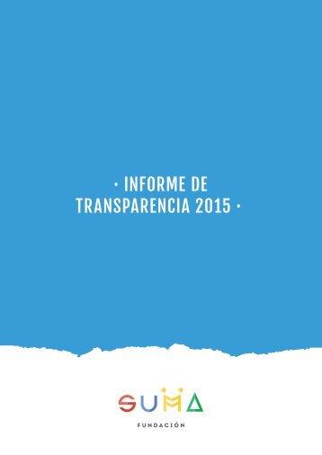 · INFORME DE TRANSPARENCIA 2015 ·
