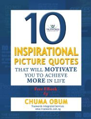 MOTIVATE YOU TO ACHIEVE MORE IN LIFE -