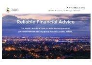 The Wealth Builder Club Financial Advisors Dublin
