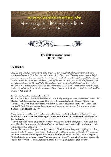 Der Gottesdienst im Islam Das Gebet www.assira-verlag.de