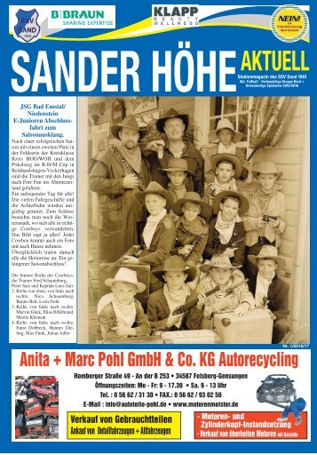 SanderHöhe Aktuell 2016/17 Nr.1