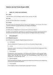 Statuten des Golf Clubs Brigels (GCB) - Golfplatz Brigels