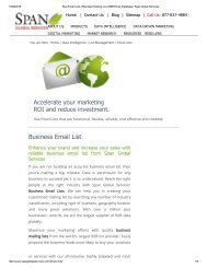 Get Business Email List from Span Global Services