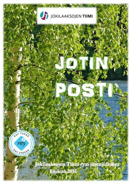 Jotinposti - Jokilaaksojen Tiimin jäsenjulkaisu