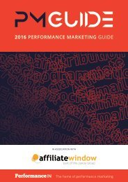 2016 PERFORMANCE MARKETING GUIDE