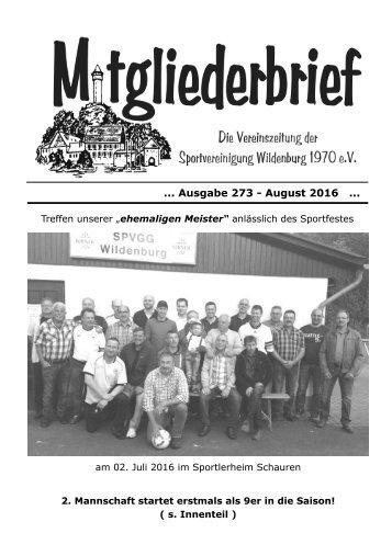 Ausgabe 273  - August 2016
