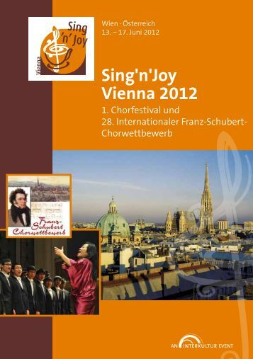 Sing'n'Joy Vienna 2012 - Program Book
