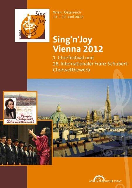 Sing'n'Joy Vienna 2012 - Program Book
