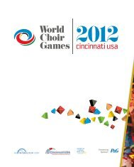 World Choir Games Cincinnati 2012 - Program Book