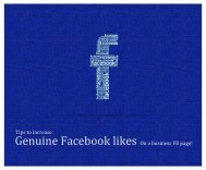 Tips to increase Genuine Facebook Likes!