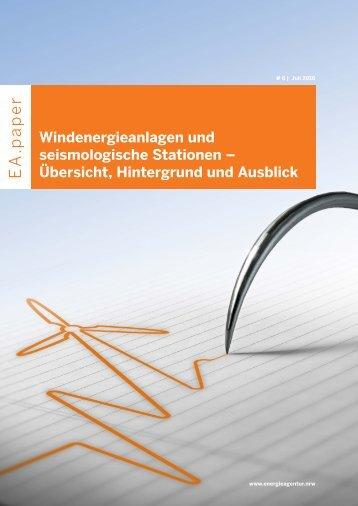 Windenergieanlagen und Erdbebenmessstationen