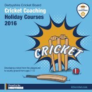 Cricket Coaching Holiday Courses 2016